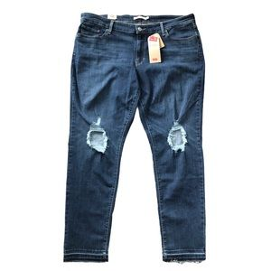 LEVI'S 711 Skinny Mid Rise Distressed Women Jeans